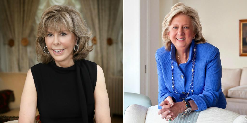 Jane Stanton Hitchcock and Linda Fairstein