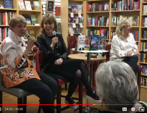 Linda Fairstein and Jane Stanton Hitchcock in conversation with Barbara Peters